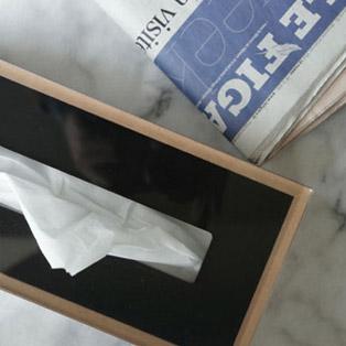 美しくエレガントに見せる ティッシュボックス [Dix W] 5,940 yen