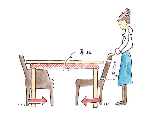 ダイニングテーブルとチェア、使いやすい高さがある!