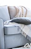 ソファーカバーを手作りして温かみのあるインテリアに♪