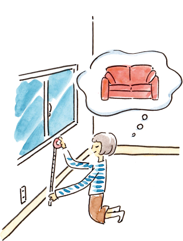 最適な家具レイアウトのためにお部屋の寸法をチェック!