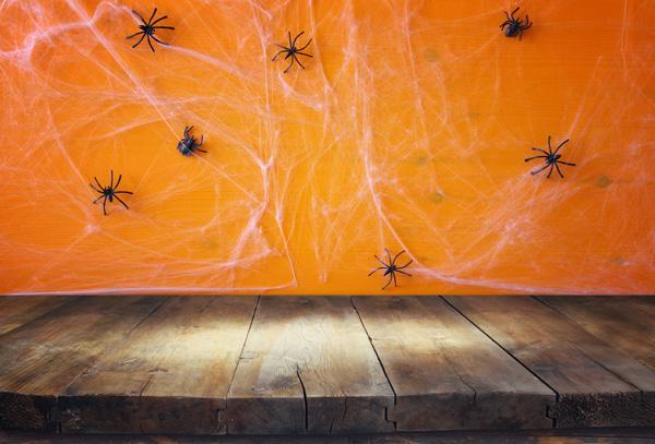 本格ホラーハウスを再現!綿や布を使って蜘蛛の巣を作る