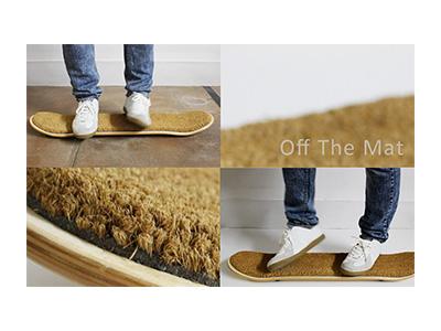 玄関マット【Off The Mat 】スケートボード型玄関マットOM-001
