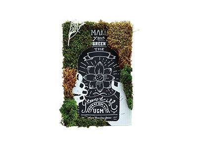 インテリア雑貨GREEN ART KIT  GAK-04.BOTTLE FLOWER