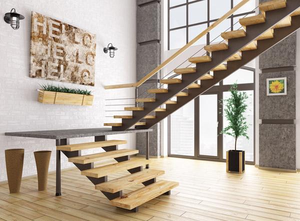 気の流れを緩やかにするマットを階段の上下に敷く