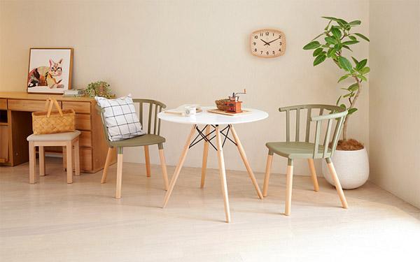 丸みのある家具を取り入れるのも特徴
