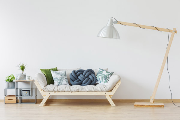 ほっこり温かみのある部屋に。白×木調の北欧インテリアコーディネート