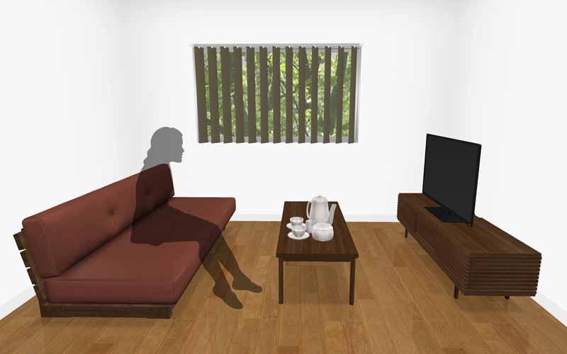 テレビとソファの距離